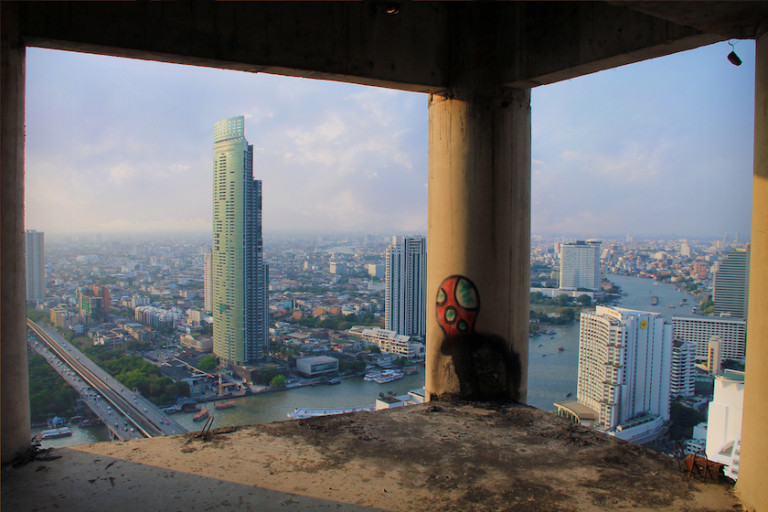 Sathorn Unique Tower, at nearly 80 per cent complete, was left to deteriorate, its 49 stories reaching nowhere