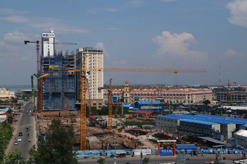 A construction site in Phnom Penh's Chamkar Mon district is seen in April last year.