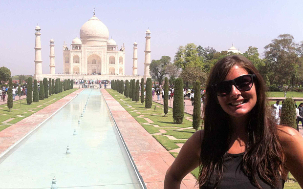 Katy in India on her travels