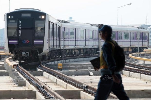 Tests are currently under way on Purple Line electric trains running between Nonthaburi's Bang Yai district and Bang Sue district.