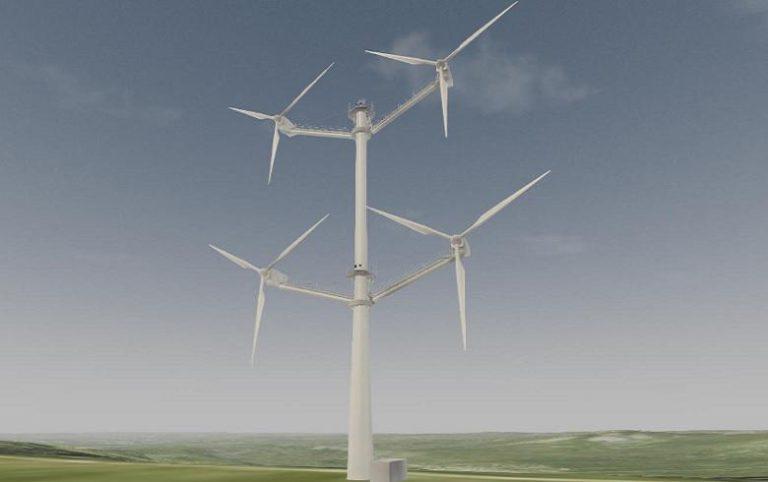 Illustration of the multi-rotor concept demonstration turbine.