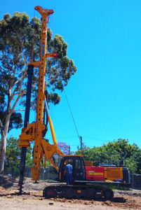 XCMG XR180DII rotary drilling rig in Australia