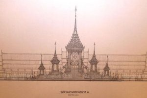 The design of King Bhumibol's pyre (Fine Art Department)